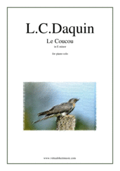 Cover icon of Le Coucou in E minor sheet music for piano solo by Louis-Claude Daquin, classical score, advanced skill level