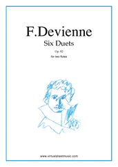 Six Duets Op.82 for two flutes - flute duet sheet music