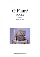 Dolly Op.56 for piano four hands - classical piano four hands sheet music