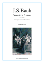 Concerto in D minor BWV 1043 (Double Concerto) for two violins and cello - intermediate string trio sheet music