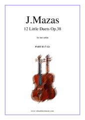 Cover icon of Little Duets Op.38, 12 - part II sheet music for two cellos by Jaques Fereol Mazas, classical score, easy/intermediate duet