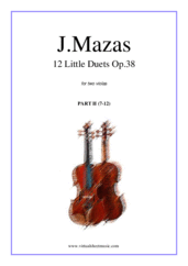 Cover icon of Little Duets Op.38, 12 - COMPLETE sheet music for two violas by Jaques Fereol Mazas, classical score, easy/intermediate duet