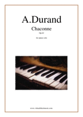 Cover icon of Chaconne Op.62 sheet music for piano solo by Auguste Durand, classical score, easy/intermediate skill level
