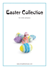 Cover icon of Easter Collection - Easter Hymns and Tunes sheet music for violin and piano, easy skill level