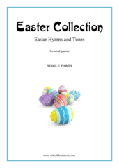 Cover icon of Easter Collection - Easter Hymns and Tunes (COMPLETE) sheet music for wind quartet, intermediate skill level