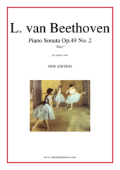 "Cover icon of Sonata Op.49 No.2 ""Easy"" (NEW EDITION) sheet music for piano solo by Ludwig van Beethoven, classical score, easy/intermediate skill level"