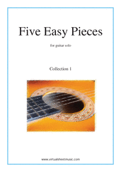 Five Easy Pieces (coll. 1) for guitar solo - guitar sonata sheet music