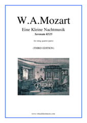 Cover icon of Eine Kleine Nachtmusik (parts) sheet music for string quartet by Wolfgang Amadeus Mozart, classical score, intermediate skill level