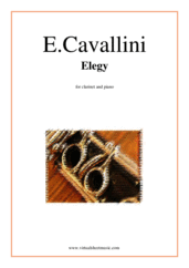 Cover icon of Elegy sheet music for clarinet and piano by Ernesto Cavallini, classical score, intermediate/advanced skill level
