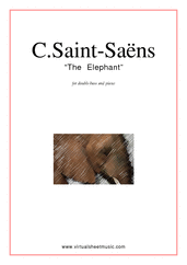 Cover icon of The Elephant sheet music for double-bass and piano by Camille Saint-Saens, classical score, easy skill level