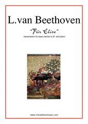 Cover icon of Fur Elise sheet music for bass clarinet and piano by Ludwig van Beethoven, classical score, intermediate skill level