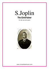 Cover icon of The Entertainer sheet music for alto saxophone and piano by Scott Joplin, classical score, intermediate skill level