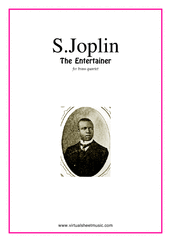 Cover icon of The Entertainer (COMPLETE) sheet music for brass quartet, version 1 by Scott Joplin, classical score, intermediate skill level