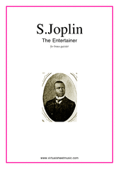 Cover icon of The Entertainer (parts) sheet music for brass quintet by Scott Joplin, classical score, intermediate skill level