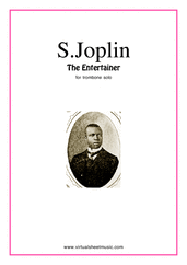 Cover icon of The Entertainer sheet music for trombone solo by Scott Joplin, classical score, easy skill level