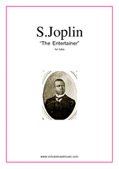 Cover icon of The Entertainer sheet music for tuba solo by Scott Joplin, classical score, easy skill level