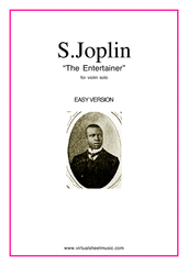 Cover icon of The Entertainer (easy version) sheet music for violin solo by Scott Joplin, classical score, easy skill level