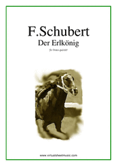 Cover icon of Der Erlkonig (parts) sheet music for brass quintet by Franz Schubert, classical score, intermediate skill level