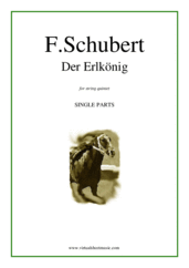 Cover icon of Der Erlkonig (parts) sheet music for string quintet by Franz Schubert, classical score, intermediate skill level