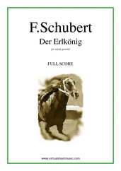 Cover icon of Der Erlkonig (f.score) sheet music for wind quintet by Franz Schubert, classical score, intermediate skill level