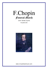 Cover icon of Funeral March sheet music for piano solo by Frederic Chopin, classical score, intermediate skill level