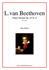 Beethoven Most Famous Sonatas for piano solo - intermediate classical sheet music