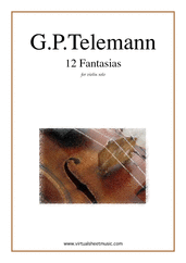 Cover icon of Fantasias, 12 sheet music for violin solo by Georg Philipp Telemann, classical score, intermediate skill level