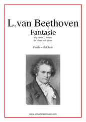 Cover icon of Fantasie Op.80 in C minor, Finale (parts) sheet music for choir and piano by Ludwig van Beethoven, classical score, intermediate skill level