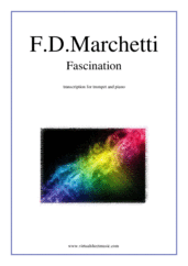 Cover icon of Fascination sheet music for trumpet and piano by Fermo Dante Marchetti, wedding score, intermediate skill level
