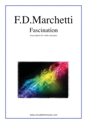 Cover icon of Fascination sheet music for violin and piano by Fermo Dante Marchetti, wedding score, intermediate skill level
