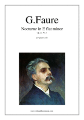 Cover icon of Nocturne Op.33 No.1 sheet music for piano solo by Gabriel Faure, classical score, intermediate/advanced skill level