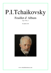Cover icon of Feuillet d' Album Op.19 No.3 sheet music for piano solo by Pyotr Ilyich Tchaikovsky, classical score, intermediate/advanced skill level