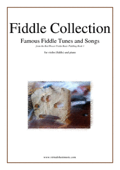 Fiddle Collection, Famous Fiddle Tunes for violin and piano - easy chords sheet music