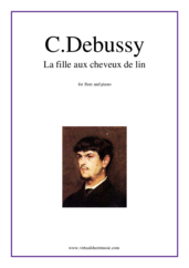 Cover icon of La fille aux cheveux de lin sheet music for flute and piano by Claude Debussy, classical score, intermediate/advanced skill level