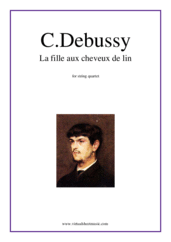 Cover icon of La fille aux cheveux de lin sheet music for string quartet by Claude Debussy, classical score, intermediate/advanced skill level