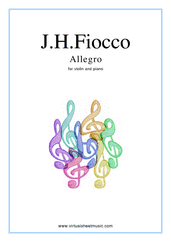 free Allegro for violin and piano - free violin sheet music
