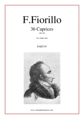 Cover icon of Caprices, 36 part IV (28-36) sheet music for violin solo by Federigo Fiorillo, classical score, intermediate/advanced skill level