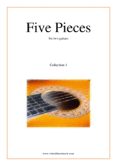 Five Pieces (coll. 1) for two guitars - guitar duet sheet music