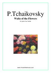 Waltz of the Flowers for piano four hands - classical piano four hands sheet music