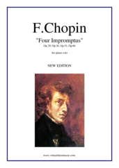 Cover icon of Four Impromptus Op.29, Op.36, Op.51, Op.66 sheet music for piano solo by Frederic Chopin, classical score, advanced skill level