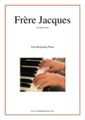 Cover icon of Frere Jacques (Are you sleeping?) sheet music for piano solo, classical score, beginner skill level
