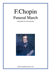 Cover icon of Funeral March sheet music for violin and piano by Frederic Chopin, classical score, intermediate skill level