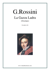 Cover icon of La Gazza Ladra (Overture) sheet music for piano solo by Gioacchino Rossini, classical score, intermediate skill level
