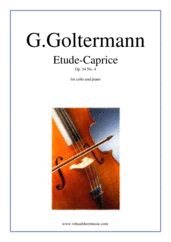 Cover icon of Etude-Caprice Op.54 No.4 sheet music for cello and piano by Georg Goltermann, classical score, advanced skill level