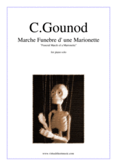 Cover icon of Funeral March of a Marionette sheet music for piano solo by Charles Gounod, classical score, intermediate/advanced skill level