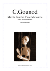 Cover icon of Marche Funebre d' une Marionette sheet music for violin and piano by Charles Gounod, classical score, intermediate/advanced skill level