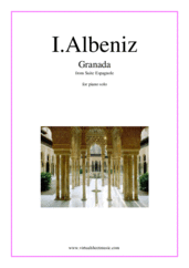 Cover icon of Granada sheet music for piano solo by Isaac Albeniz, classical score, intermediate/advanced skill level