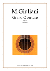 Cover icon of Grand Overture, Op.61 sheet music for guitar solo by Mauro Giuliani, classical score, intermediate/advanced skill level