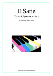 Cover icon of Trois Gymnopedies sheet music for clarinet and piano by Erik Satie, classical score, easy/intermediate skill level