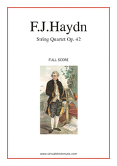 Cover icon of String Quartet in D minor Op.42 No.35 (COMPLETE) sheet music for string quartet by Franz Joseph Haydn, classical score, intermediate/advanced skill level